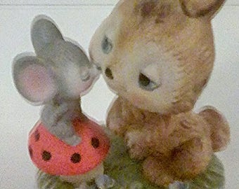 Vintage Bunny and Mouse by Napco