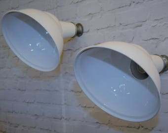 Four available 1960s Benjamin industrial pendant lamps light enamel antique vintage pendant metal factory old restaurant cafe