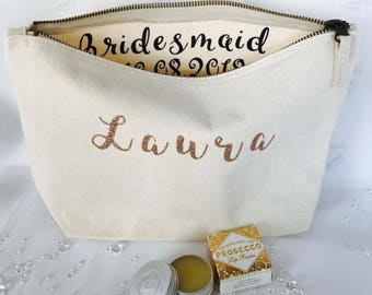 Makeup bag, wash bag, make up, cosmetics bag, toiletry bag, bridesmaid gift, make up storage