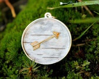 Birch & Arrow Birch Bark Pendant