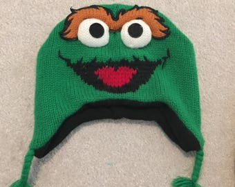 Oscar the grouch Sesame Street winter hat