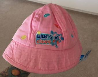 Vintage blues clues pink toddler bucket hat