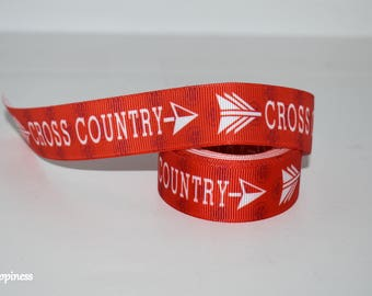 "Cross Country 7/8"" Grosgrain Ribbon 406"