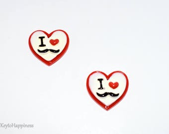 I Love Mustaches Resin R469