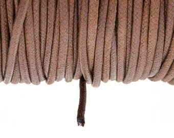 2.7 mm Brown waxed cotton cord