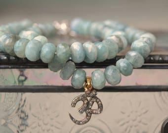 Moss Aquamarine + Sterling Silver