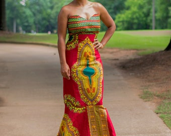 Dashiki Mermaid Dress