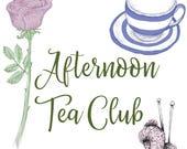 Afternoon tea yarn and charm club.