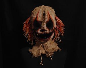 """Mask Scarecrow """"Clown"""", horror, halloween, masquerade, free shipping"""