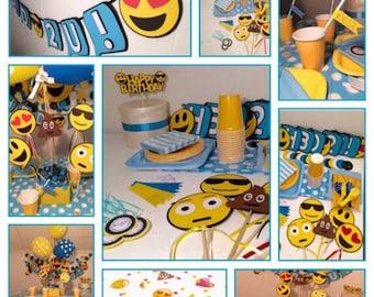 Emoji Party Package, Emoji party Ideas, Emoji Party Decorations, Emoji Banner, Emoji Birthday Party, Emoji Birthday Supplies, Birthday Party