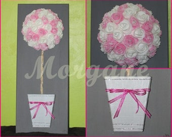 "Canvas ""flower on stem"" romantic"