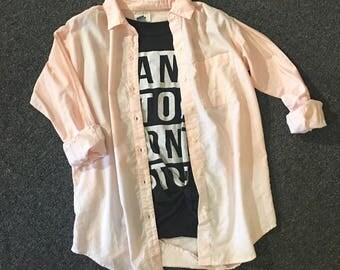 Ombre Bleached Button-Up {S}