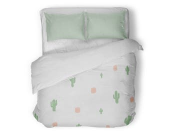 Cactus Duvet Cover, Queen Duvet Cover, King Duvet Cover, Full Duvet Cover, Twin XL Duvet Cover, Twin Duvet Cover, Bedding, Bedspread