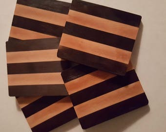Walnut and Maple drink coasters