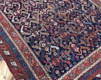 """SUNDAY STEAL 4'2""""x5'11"""" Antique Persian Afshar Rug"""