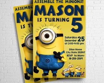 Minion Invitation, Minion Birthday Invitation, Minion Birthday, Minion Birthday Party, Minion Party, Minion Printables, Minion Party Ideas