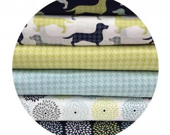 6 Fat Quarter Bundle - Dog Gone It Collection - Camelot Fabrics