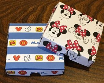 Mickey & Minnie Party Favor Boxes - Disney Themed Mini Pizza Boxes