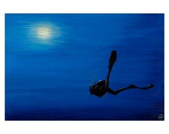 Art - Diver - Kalkan - 470 x 330mm - LIMITED EDITION