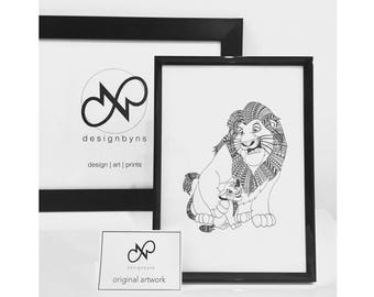 ORIGINAL ART The Lion King