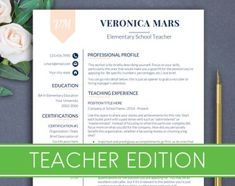 TEACHER Resume Template Resume For Teachers Resume Teacher Principal Resume  For Teacher Teaching Resume Template Educator