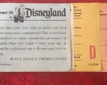 Vintage Disneyland Ticket Stub Paper Ephemera Memorabilia