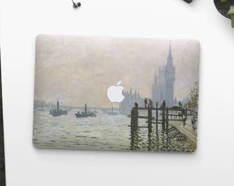 "Claude Monet, ""The Thames below Westminster"". Macbook Pro 15 skin, Macbook Pro 13 skin, Macbook 12 skin. Macbook Pro skin. Macbook Air skin."