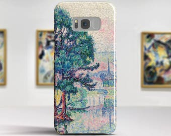 """Paul Signac, """"Les Andelys"""". Samsung Galaxy Note 8 Case Google Pixel XL Case LG G6 case Galaxy A3 2017 Case and more."""