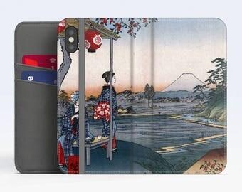 "Utagawa Hiroshige, ""The Teahouse..."". iPhone X Flip case, iPhone 8 Flip case, iPhone 7 Flip case, iPhone 6 Flip case. Samsung Flip cases."