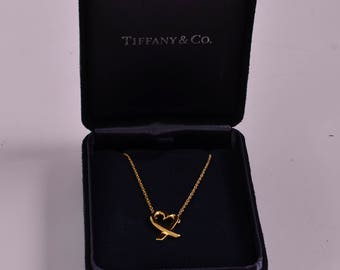 Authentic Tiffany & Co. 18K Paloma Picasso Loving Heart Necklace