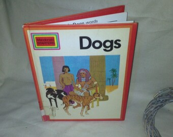 First edition Macdonald Starters Vintage School book - Dogs -Illustrated by Tony Herbert 1971 Purnell