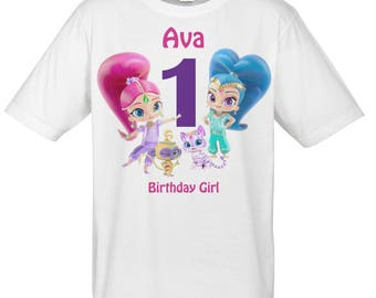 Shimmer and Shine Personalized Birthday IRON ON