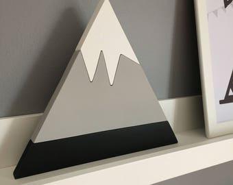 Handpainted Wooden Stackable Mountain