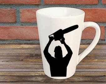 Leatherface Texas Chainsaw Massacre Mug Coffee Cup Halloween Gift for Her Him Any Color Personalized Custom Merch Massacre