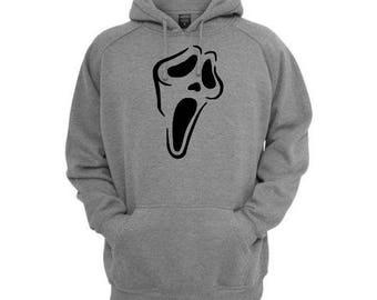 Scream Ghostface  Unisex Hoodie Pullover Hooded Sweatshirt Many Sizes Horror Halloween Merch Massacre