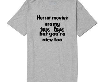 Horror Movies True Love Valentines Unisex T Shirt Many Sizes Colors Custom Horror Halloween Merch Massacre