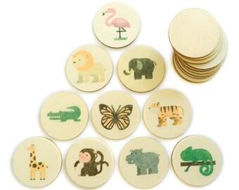 jungle animals - memory match