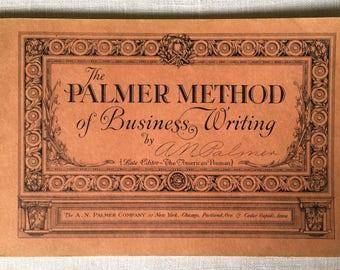 PALMER HANDWRITING BOOK ~ Palmer Method Book ~ Vintage Handwriting Book ~ Vintage Script ~ Handwriting ~ Business Writing Book ~Vintage Book