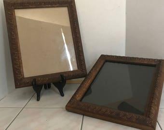Vintage Picture Frames, Unique Frames, Ceramic Frames, 8 x 10 Picture Frames, Rustic Picture Frame,