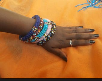 African masai beaded bangles,handmade bracelets,coloured african bangles,multicolour bangles