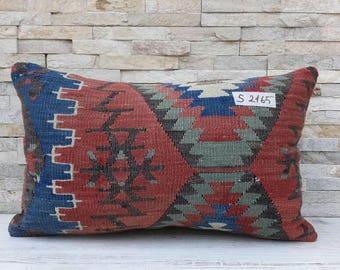 12 x 20 Kilim pillow, Kilim pillow cover, Boho pillow, Home living, Home design, Decorative pillow, Turkish pillow, Kilim cushion