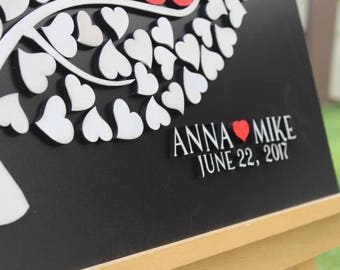 Black & White 3D Wedding Guest book Fast Shipping   Alternative  wedding Alternative Guestbook Script Custom Wedding guestbook