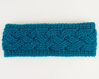 Cabled Headband - PDF Crochet Pattern Download