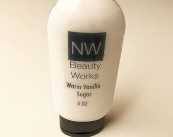 Warm Vanilla Sugar Moisturizing Lotion in Flip Top Bottle | 4 oz | For ALL Skin Types!
