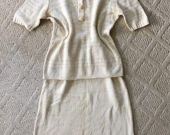 """1930's """"Peck and Peck"""" Knit Set"""