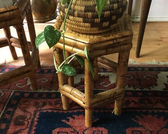 Vintage Bamboo/Rattan Plant Stand