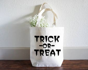 Funny Halloween Bag - Trick or Treat Bag - Halloween Gift Bag - Funny Tote - Halloween Tote Bag - Halloween Treat Bag - Large Shopping Bag