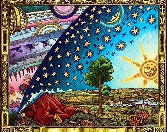 Flammarion Flat Earth Poster 71cm x 58.5 (fit to A1)