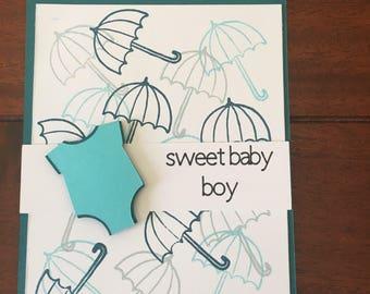 Sweet Baby Boy Handmade Card