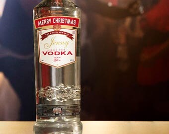 Personalised  Vodka Sticker